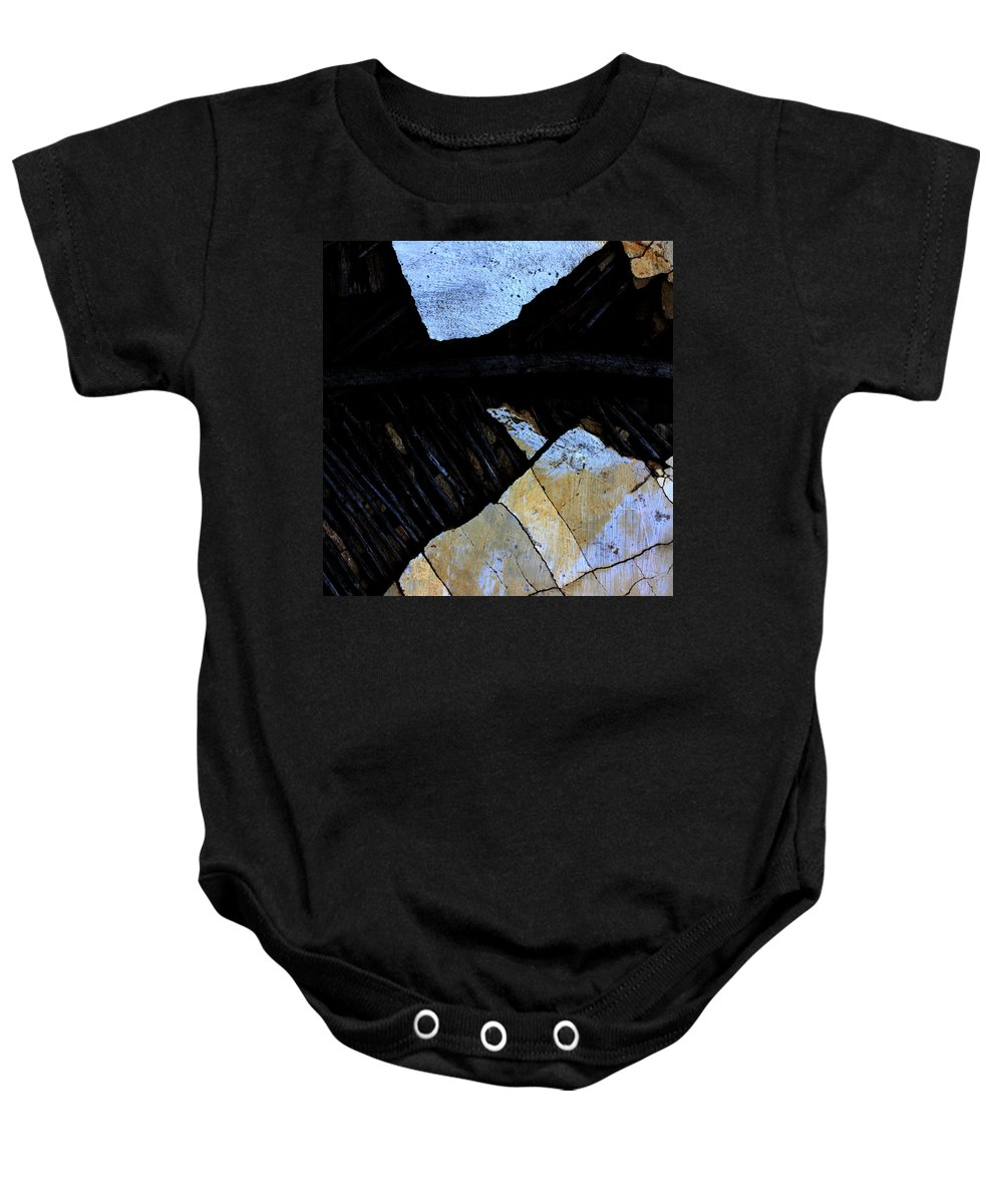 Street Baby Onesie featuring the photograph Hills With Stones by The Artist Project