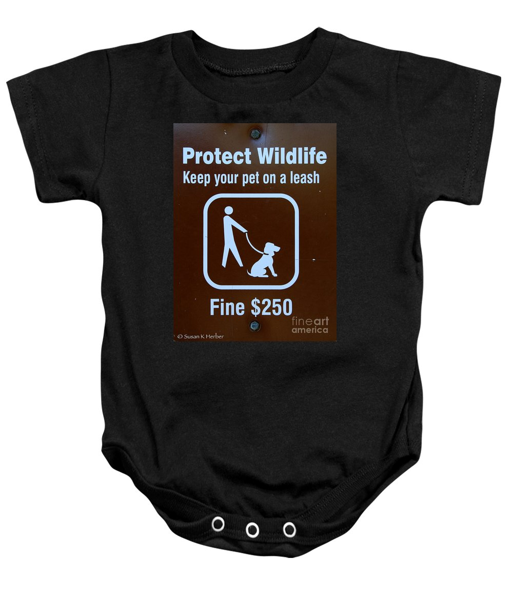 Animal Baby Onesie featuring the photograph Human Too by Susan Herber