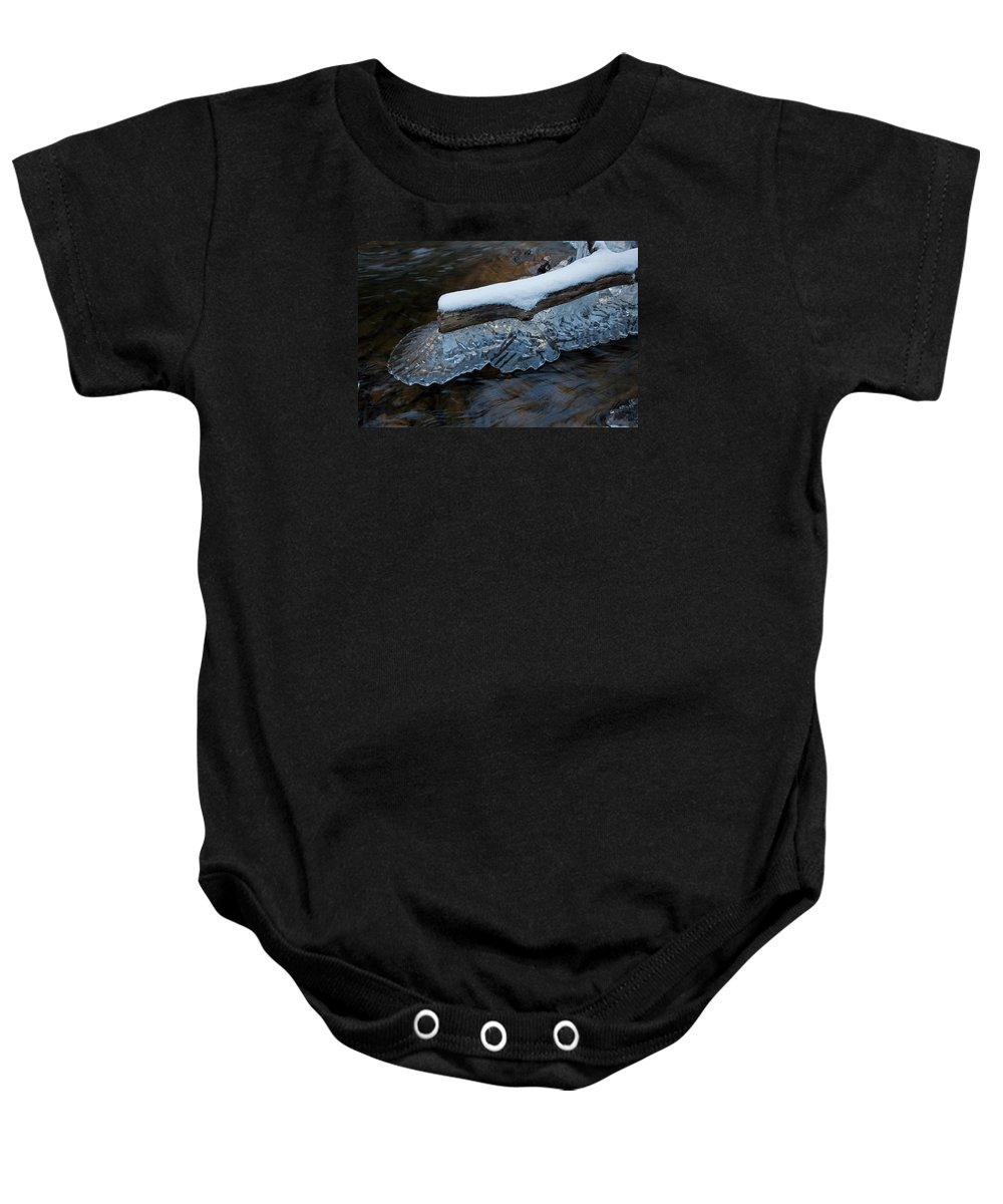 Ice Crystal Baby Onesie featuring the photograph Ice Scallops by John Stephens