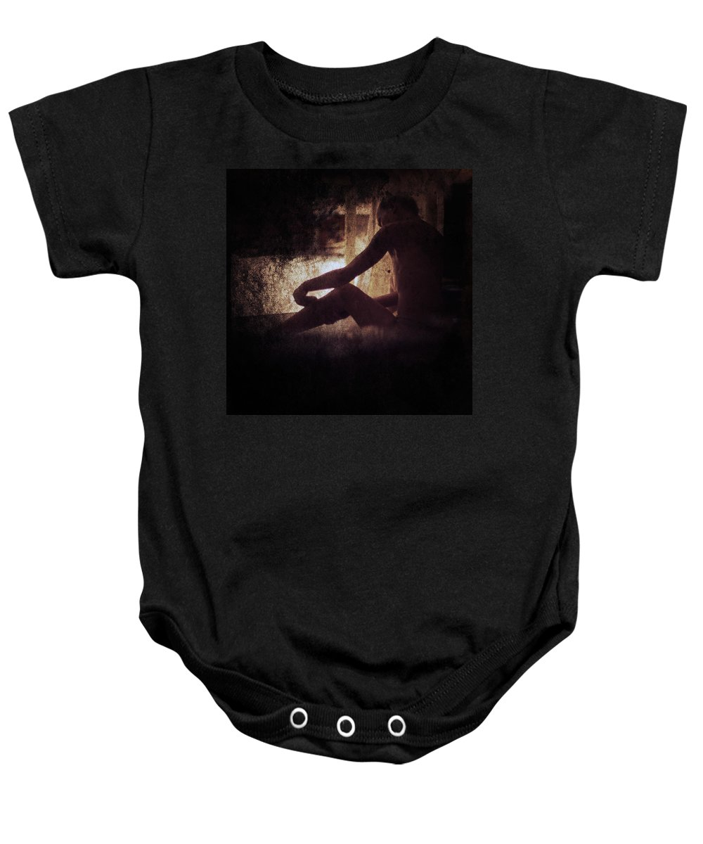 Adult Baby Onesie featuring the photograph Illusion by Stelios Kleanthous