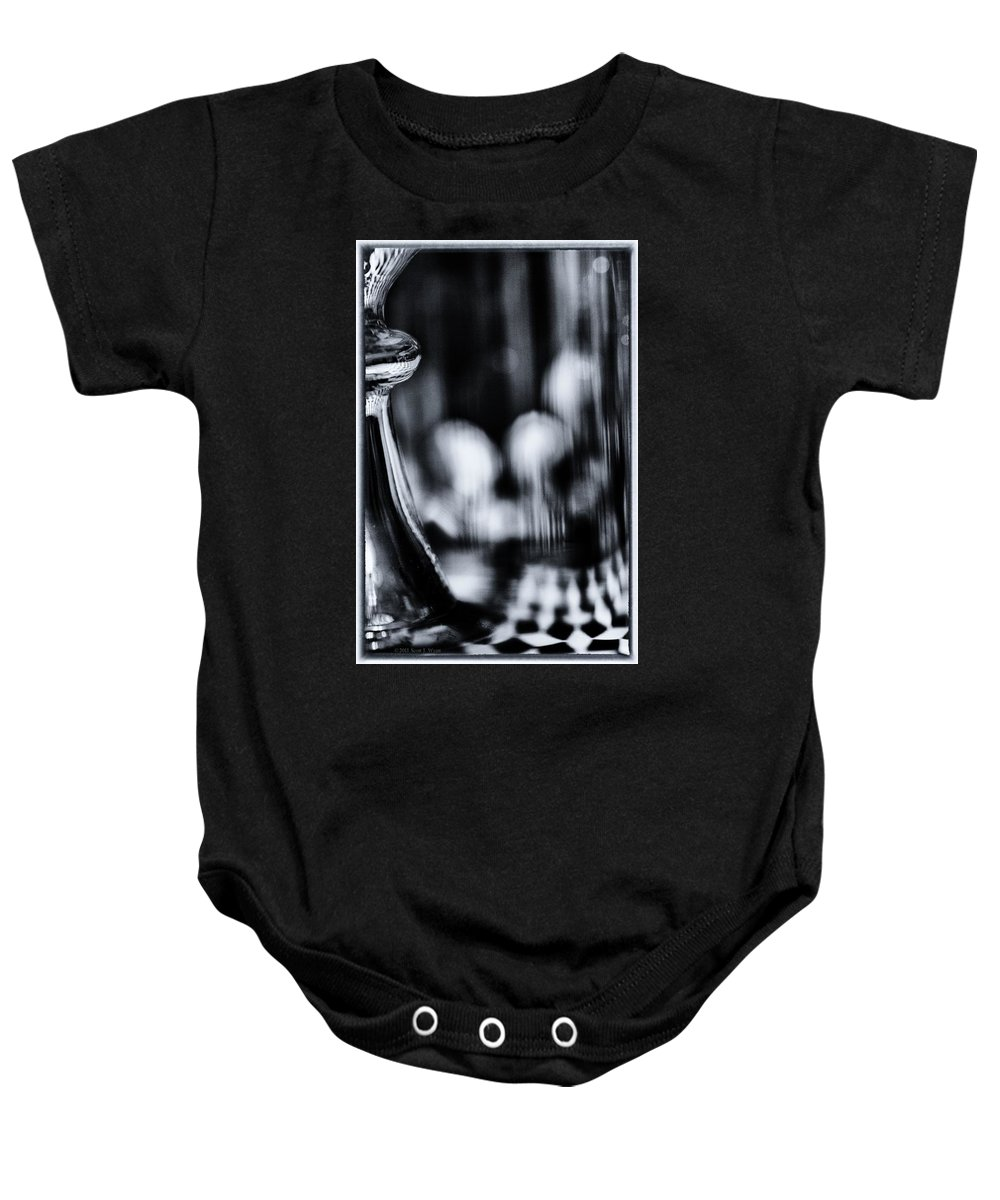 Black And White Baby Onesie featuring the photograph Imagine by Scott Wyatt