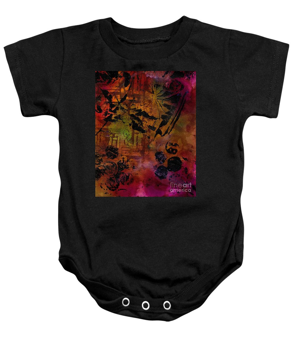 Baby Onesie featuring the mixed media Imagining The Orient II by Angela L Walker