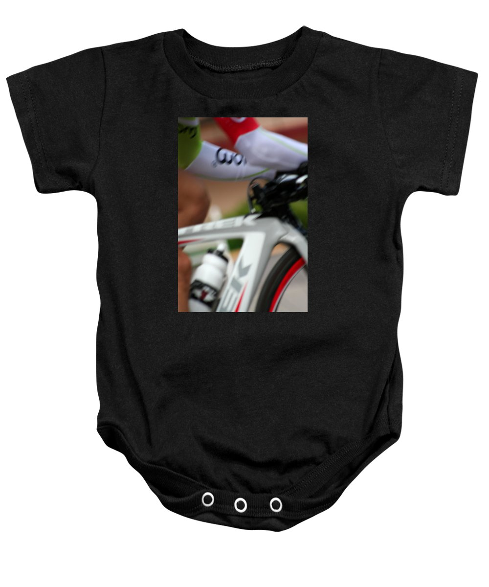 Inspirational Baby Onesie featuring the photograph In A Flash by Ric Bascobert