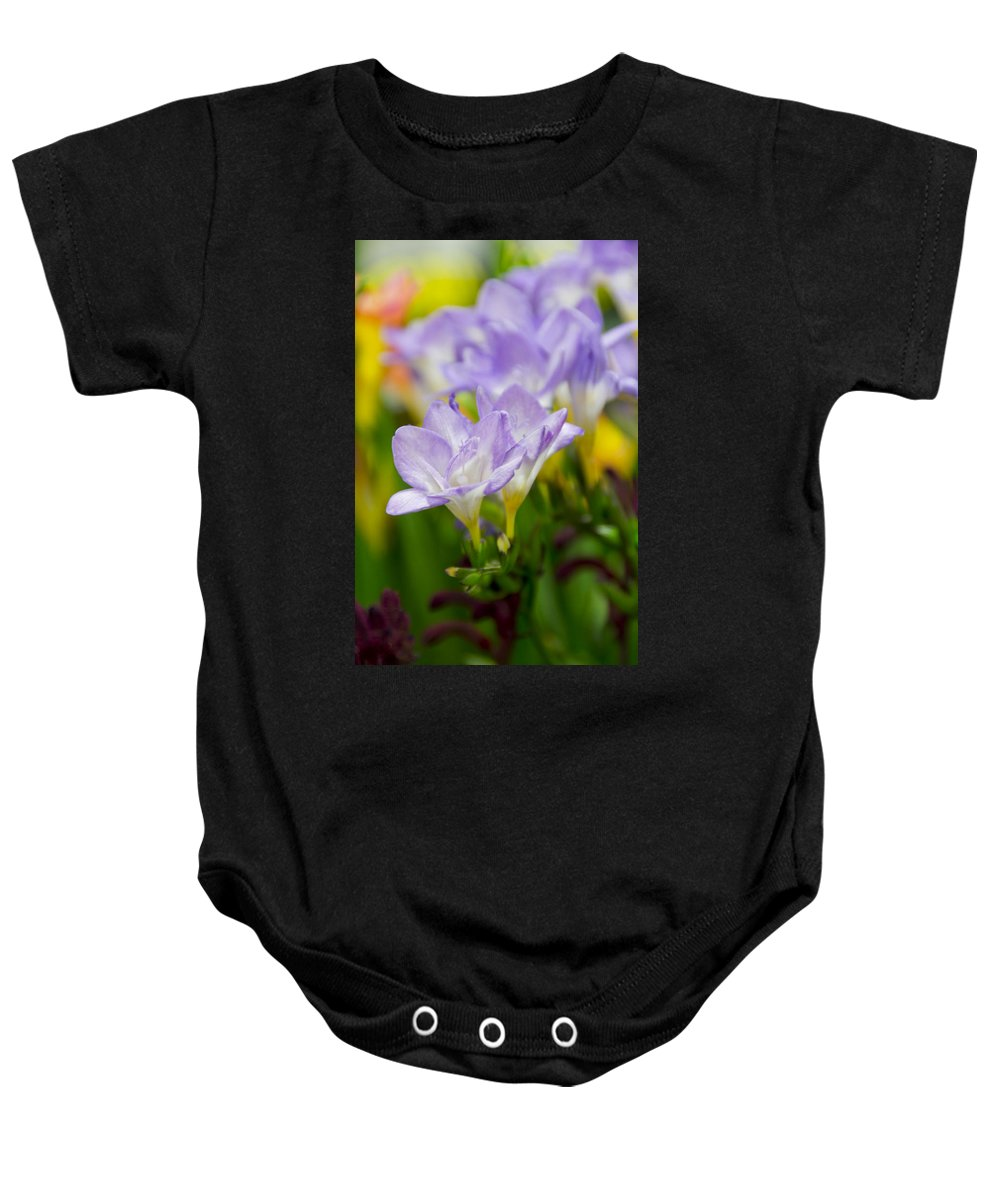 Floral Baby Onesie featuring the photograph In Living Color by Angelina Vick