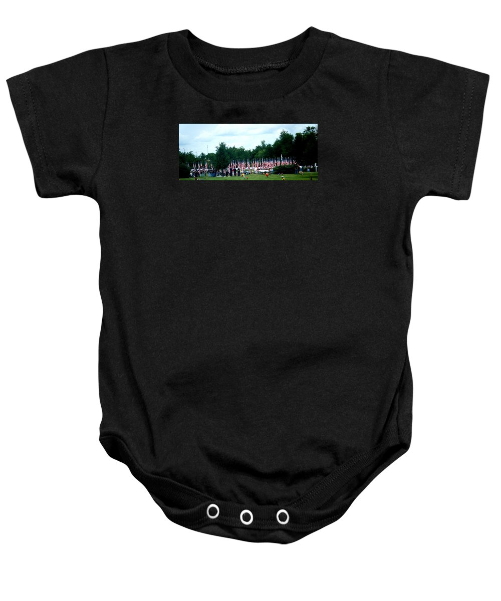 Landscapes Baby Onesie featuring the photograph In Remembrance Of 9-11 by April Patterson