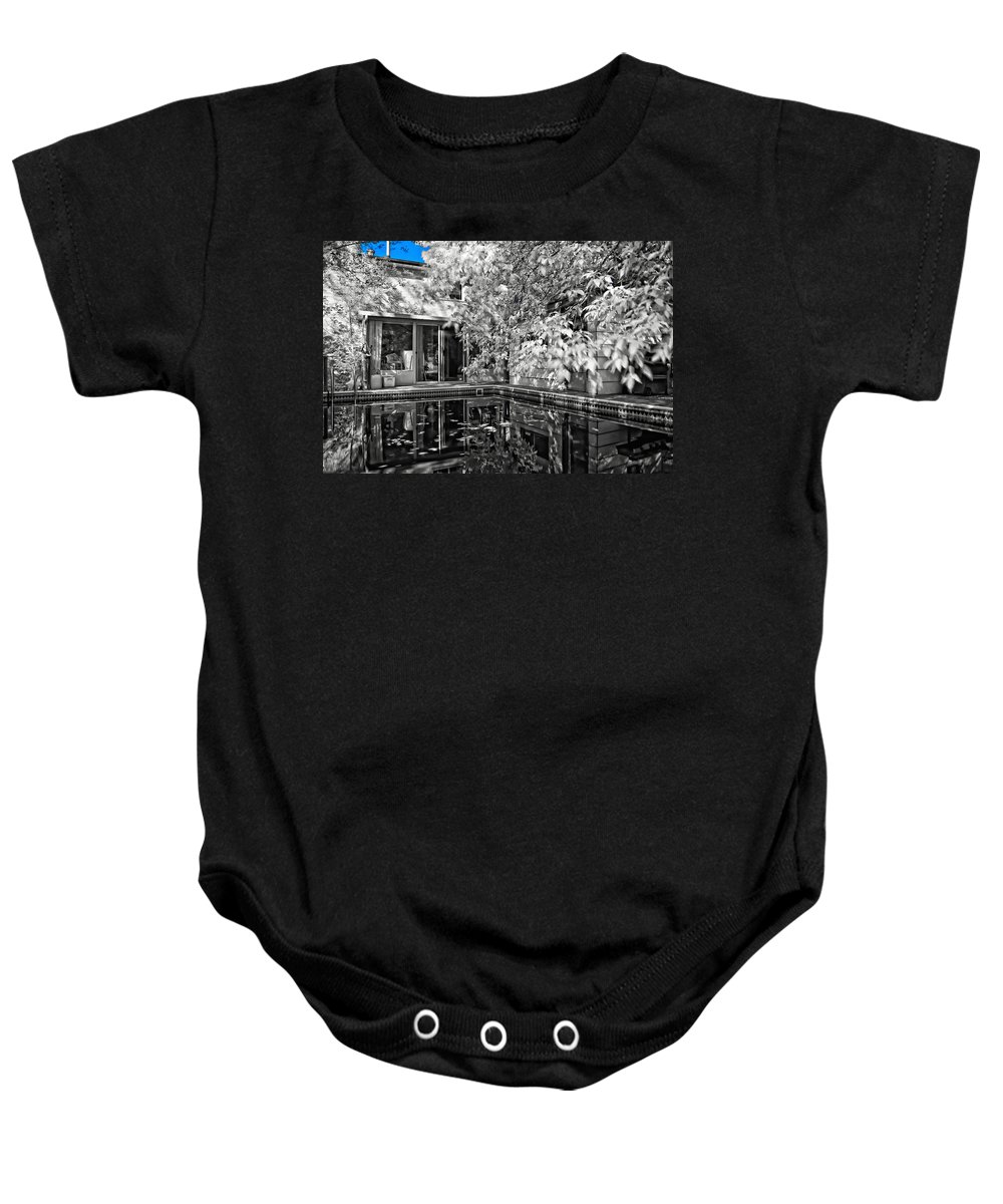 Infrared Baby Onesie featuring the photograph Infrared Summer by Steve Harrington