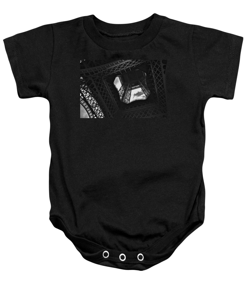 Eiffel Tower Baby Onesie featuring the photograph Inside The Eiffel Tower by Eric Tressler