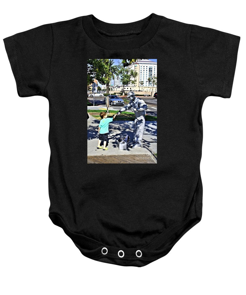 Child Baby Onesie featuring the photograph Intrigue by Tommy Anderson