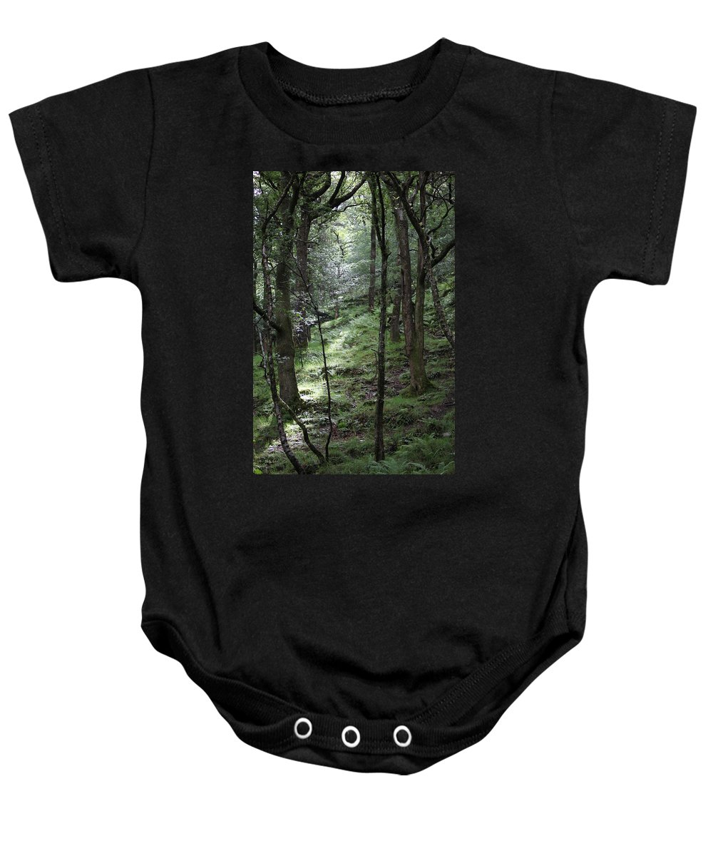 Woods Baby Onesie featuring the photograph Ireland 0002 by Carol Ann Thomas