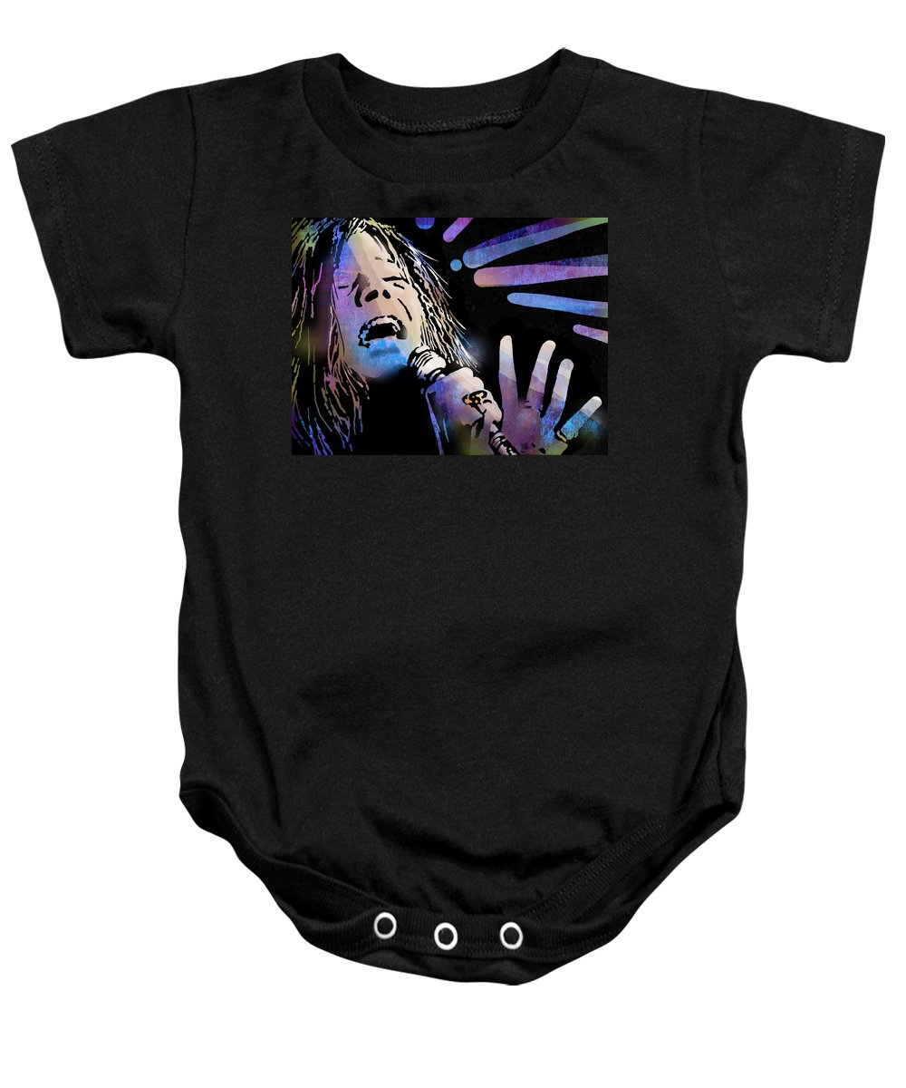 Blues Baby Onesie featuring the painting Janis by Paul Sachtleben