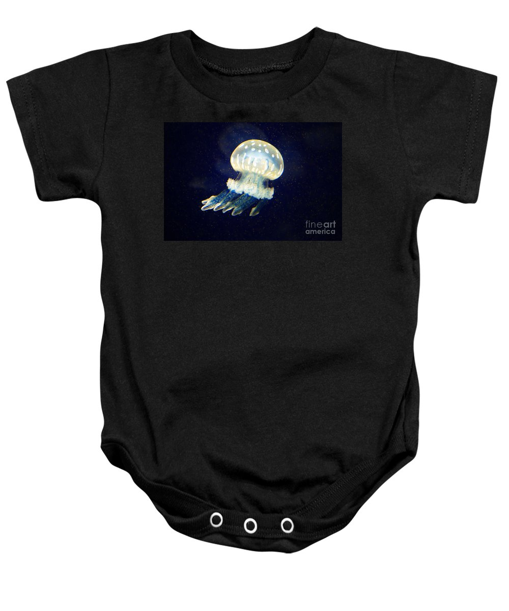 Jelly Fish Baby Onesie featuring the photograph Jelly Fish by Randy Harris
