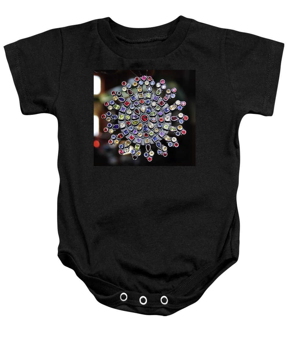 Jewelry Baby Onesie featuring the photograph Jeweled Snow Flake by Sumit Mehndiratta
