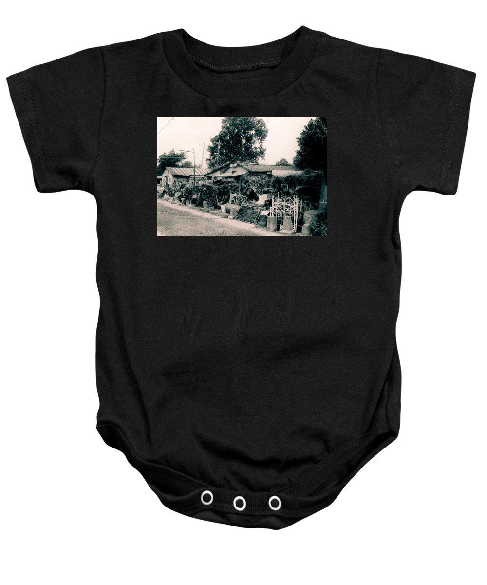 Louisiana Baby Onesie featuring the photograph Junk Shop- Tallulah Louisiana by Doug Duffey