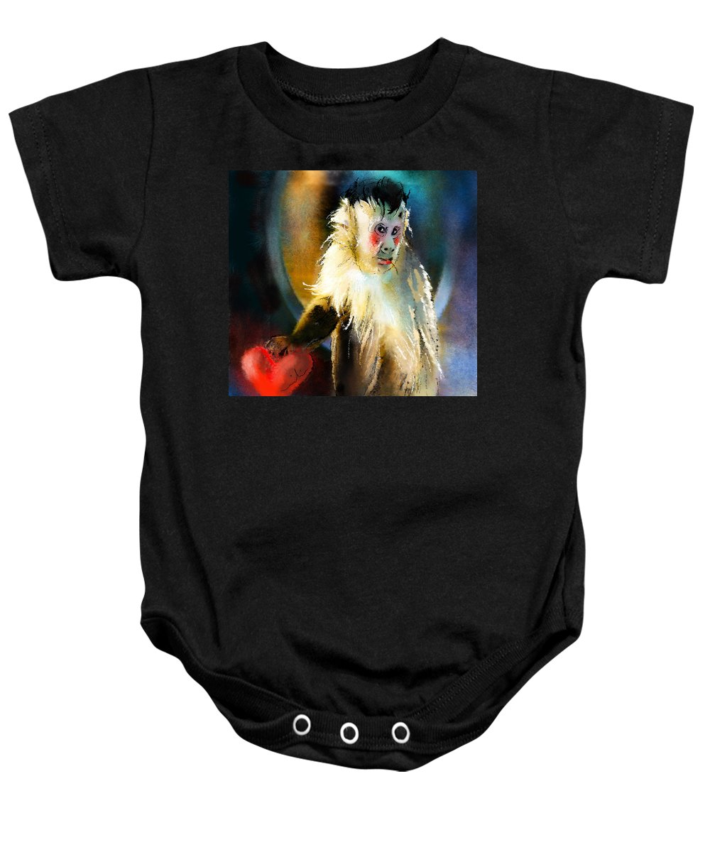 Animals Baby Onesie featuring the painting Keep Hold Of My Heart by Miki De Goodaboom