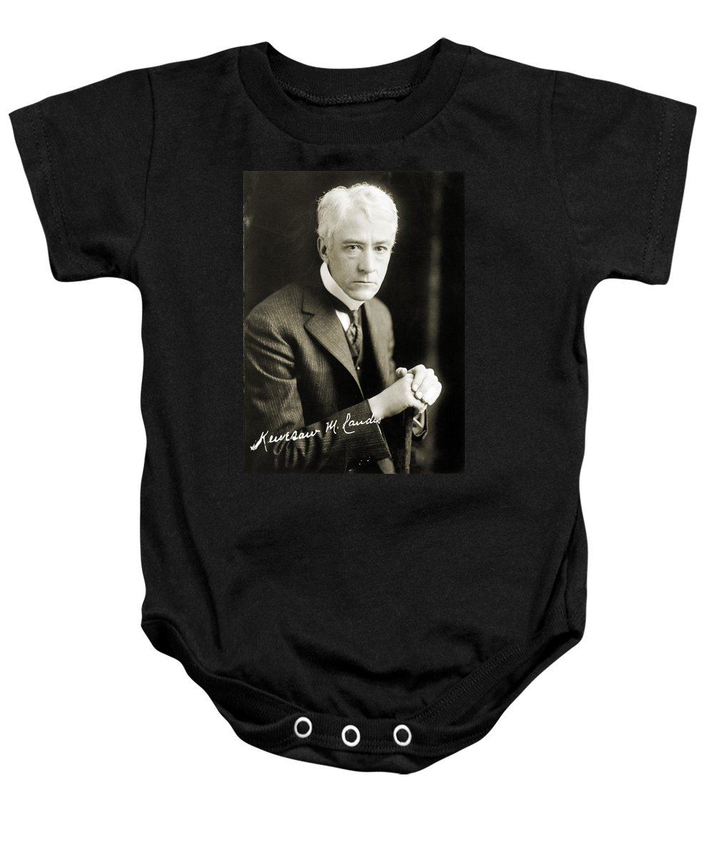 1926 Baby Onesie featuring the photograph Kenesaw Mountain Landis by Granger