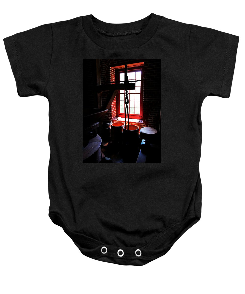 Flour Baby Onesie featuring the photograph Kiss My Grits by Phil Cappiali Jr