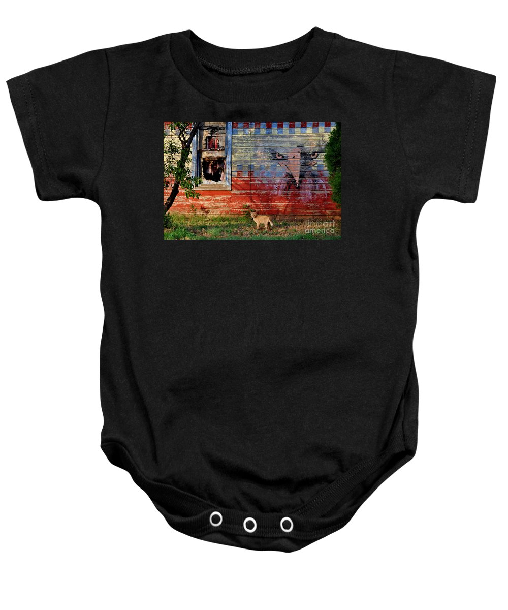 Eagle Baby Onesie featuring the photograph Painted Eagle by Anjanette Douglas