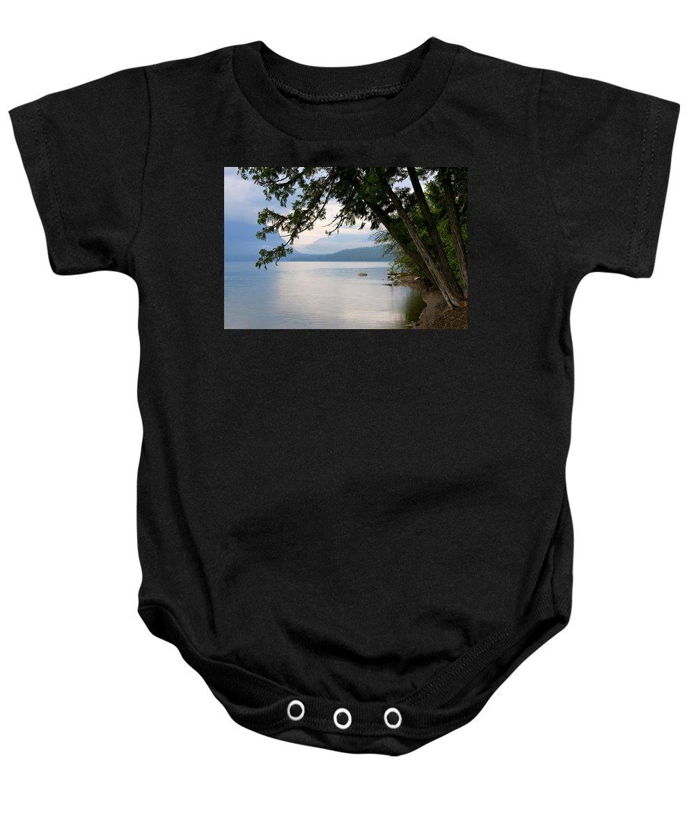 Lake Baby Onesie featuring the photograph Lake Mcdonald Glacier National Park Montana by Karon Melillo DeVega