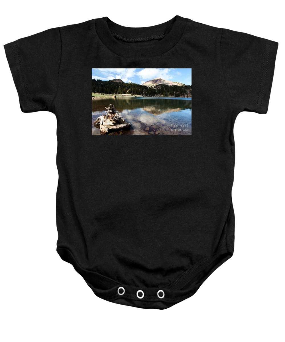Lassen Volcanic National Park Baby Onesie featuring the photograph Lassen Mountain Lakes by Adam Jewell