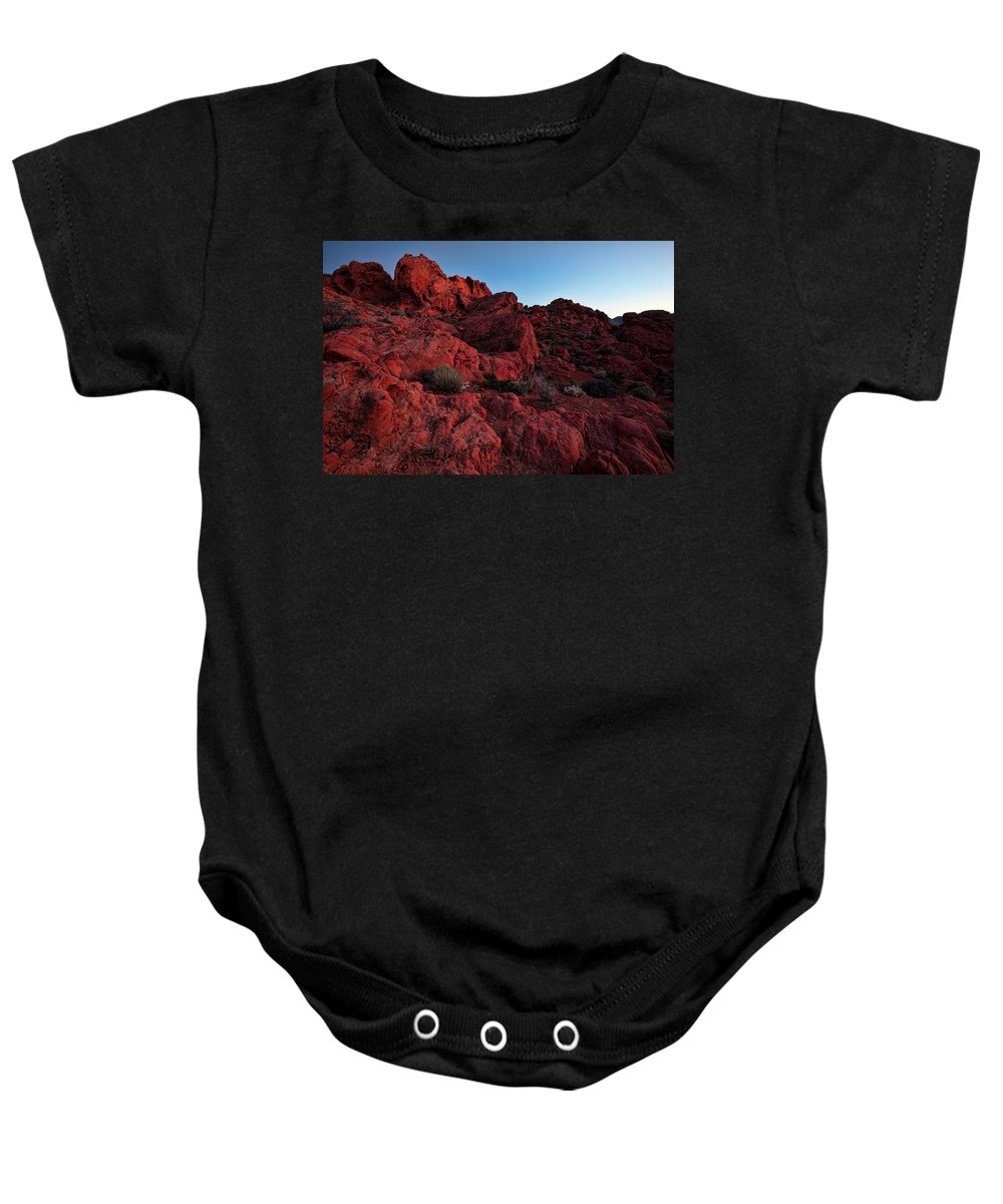 Nevada Baby Onesie featuring the photograph Last Light In Valley Of Fire by Rick Berk