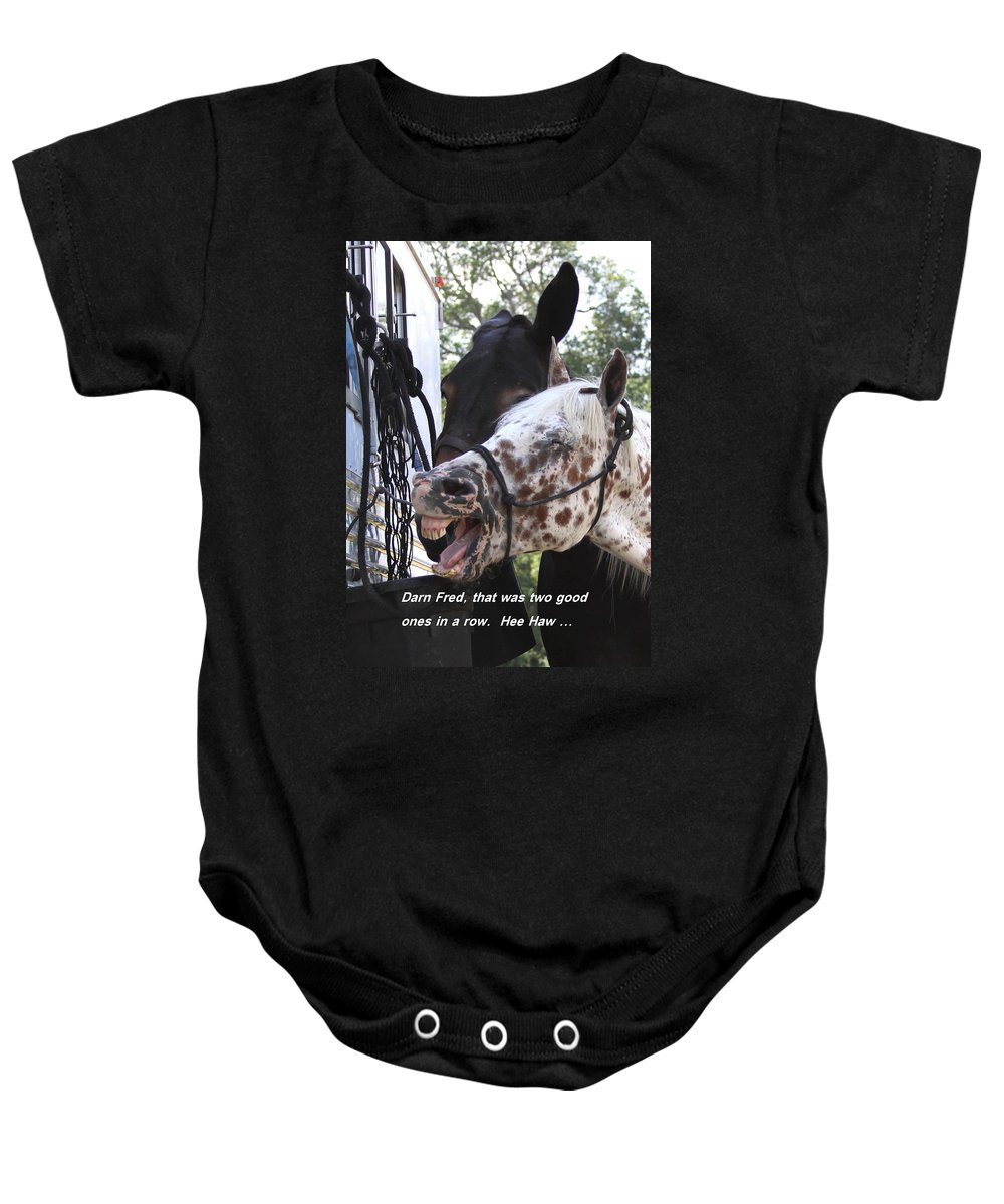 Horse Baby Onesie featuring the photograph Laughing Horse by Travis Truelove