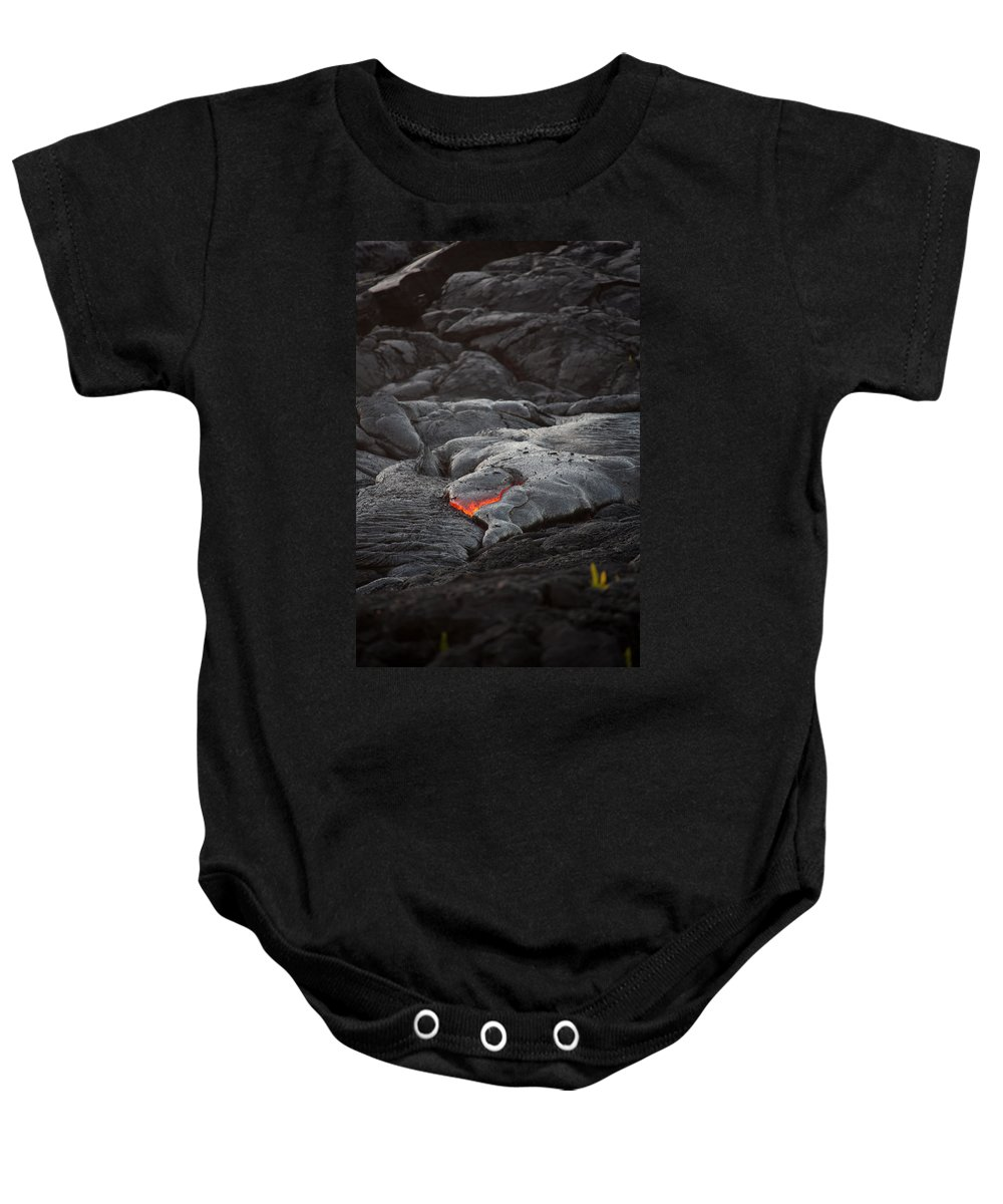 Ralf Baby Onesie featuring the photograph Lava by Ralf Kaiser
