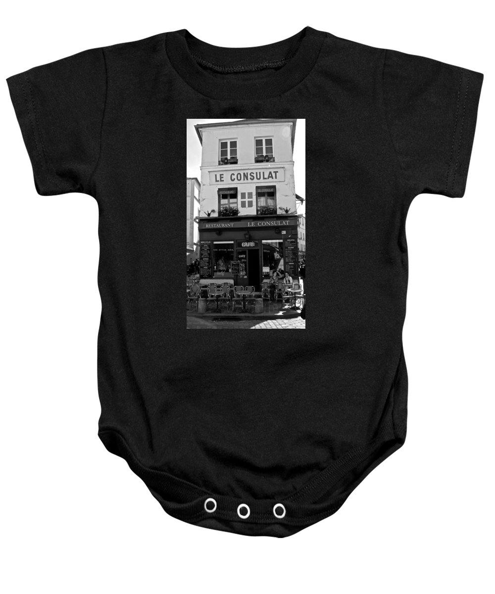 Le Consulat Baby Onesie featuring the photograph Le Consulat by Eric Tressler