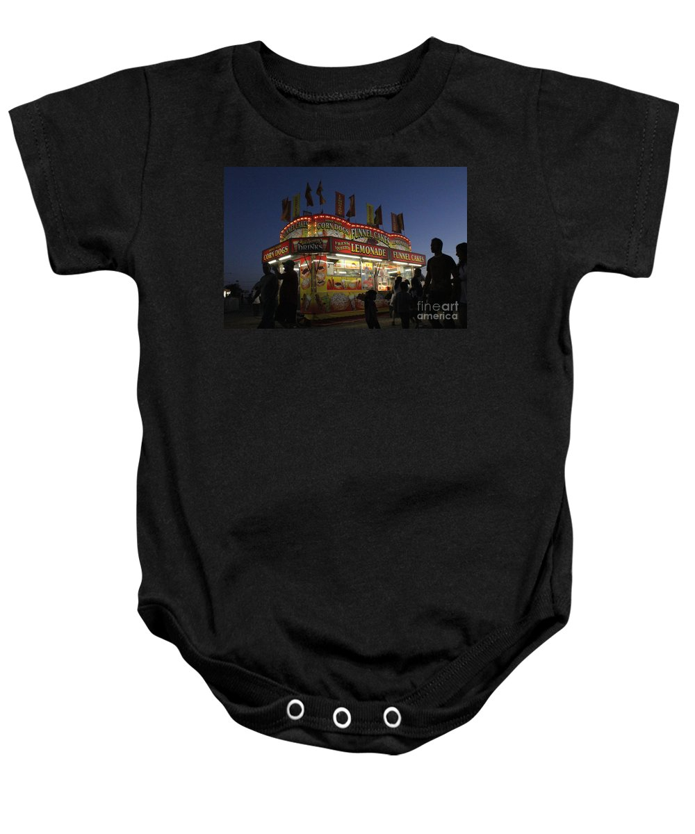 Carnival Baby Onesie featuring the photograph Lemonade Dusk by Alycia Christine