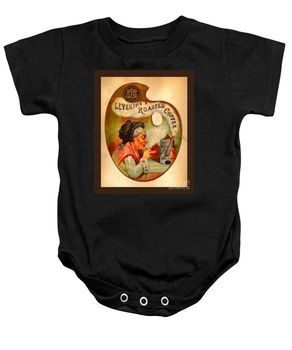Vintage Baby Onesie featuring the painting Levering's Roasted Coffee by Anne Kitzman