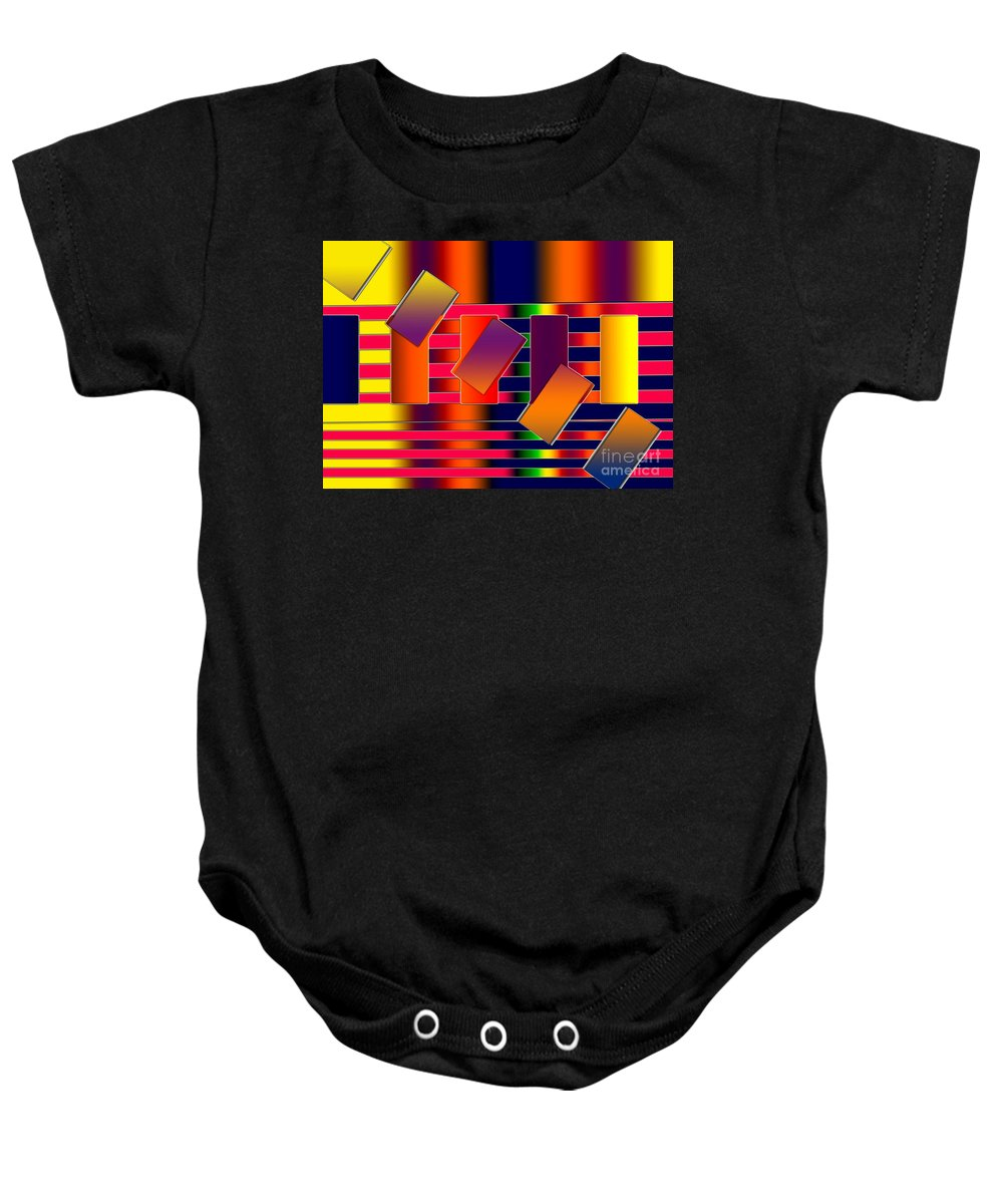 Baby Onesie featuring the digital art Lines Two by Tom Hubbard