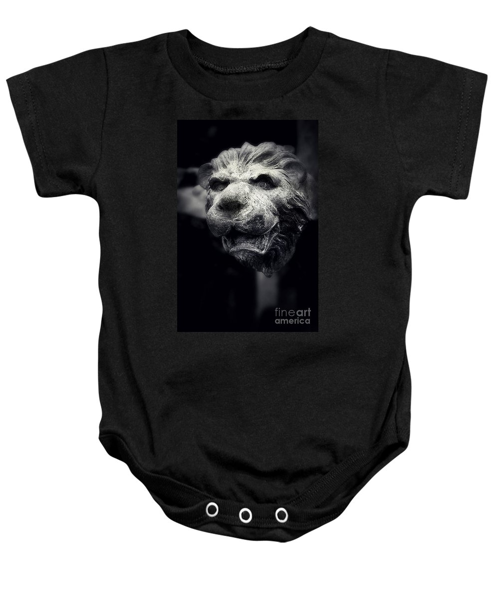 Lion Baby Onesie featuring the photograph Lions Head 2 by Perry Webster
