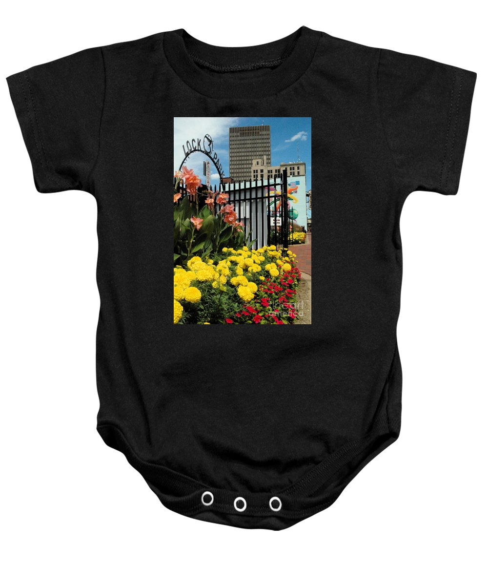 Lock 3 Baby Onesie featuring the photograph Lock 3  by Trish Hale