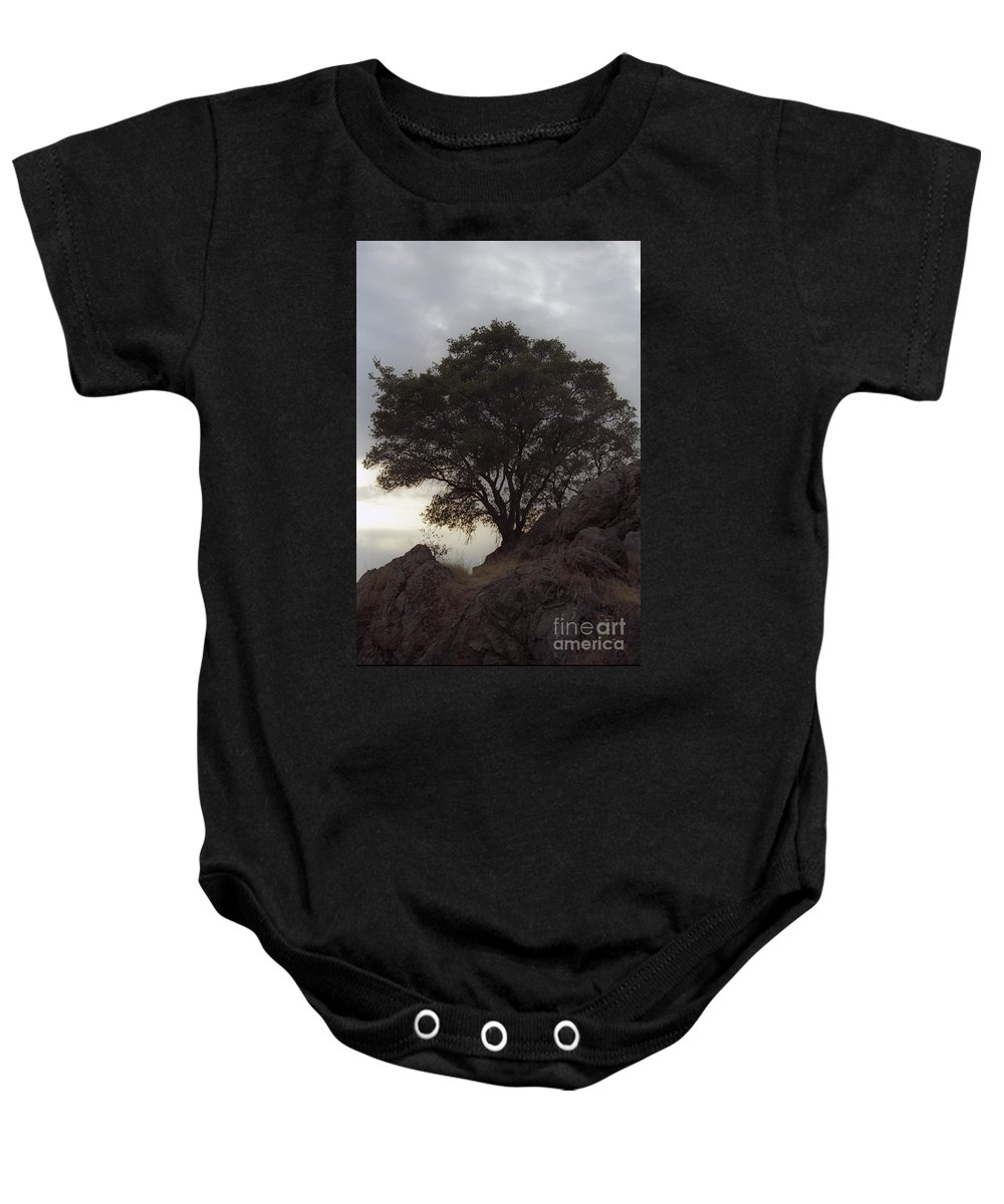 Knights Ferry Baby Onesie featuring the photograph Lone Oak 2 by Jim And Emily Bush