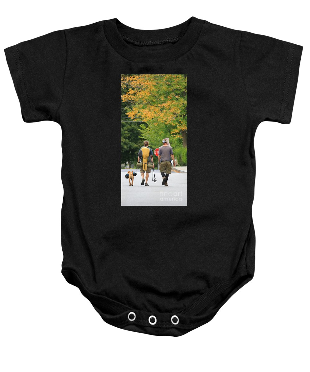 Autumn Day Baby Onesie featuring the photograph Long Journey Ahead by Michael Mooney