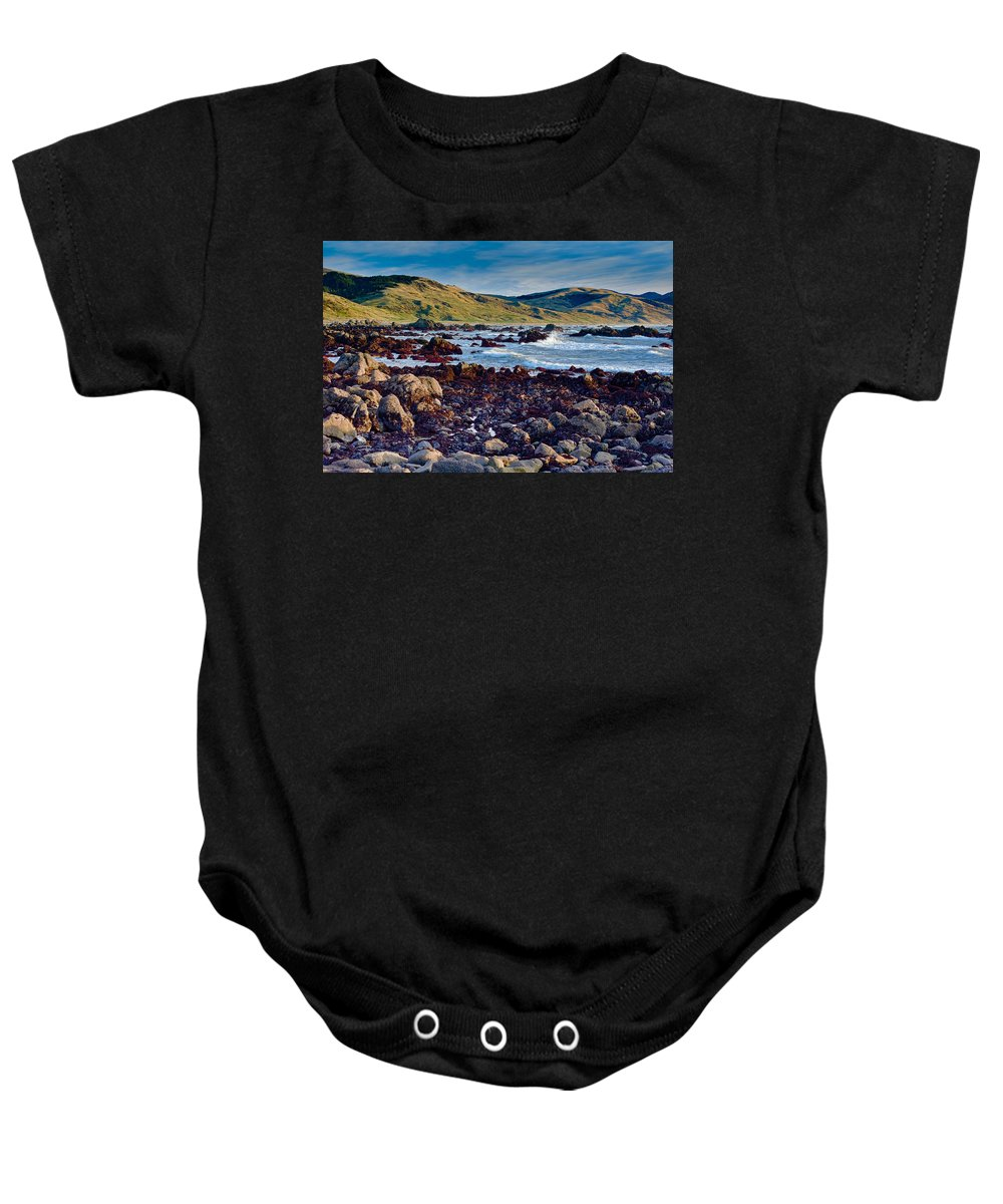 Lost Coast Baby Onesie featuring the photograph Lost Coast In Winter by Greg Nyquist