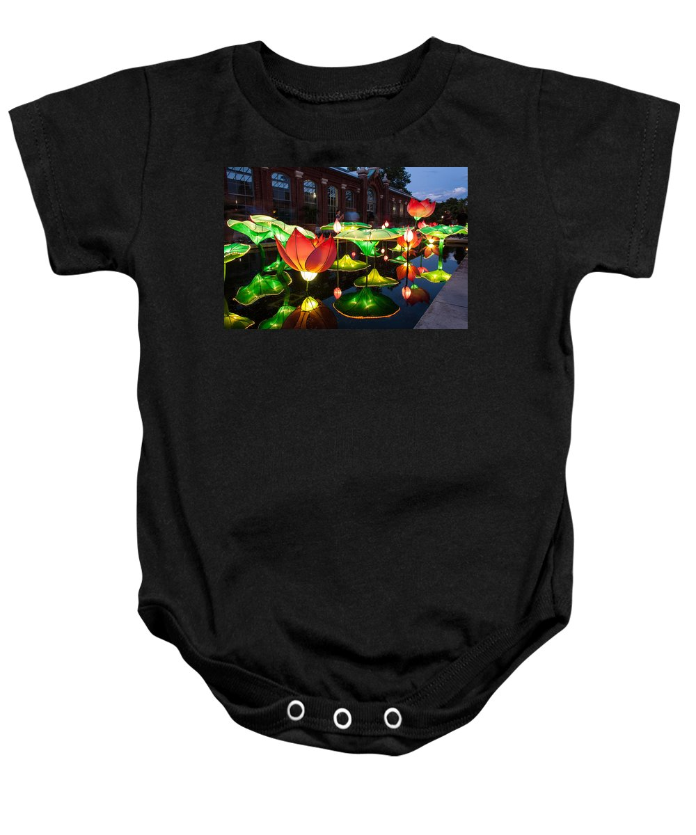 Art Baby Onesie featuring the photograph Lotus Flower by Semmick Photo