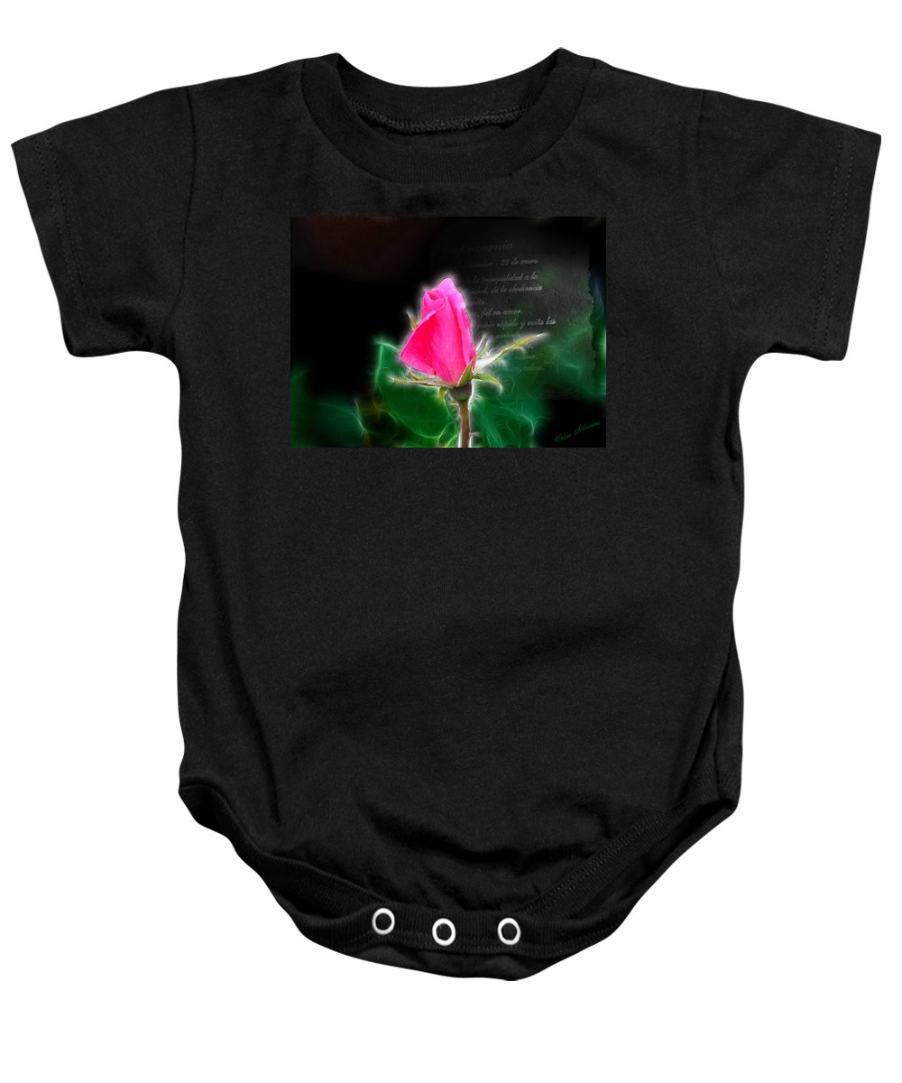 Flowers Baby Onesie featuring the photograph Love Is Electrifying by Ericamaxine Price
