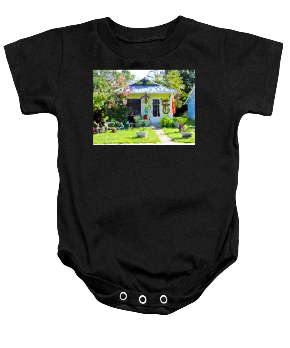 House Baby Onesie featuring the photograph Loving Life In Lime by Scott Crump