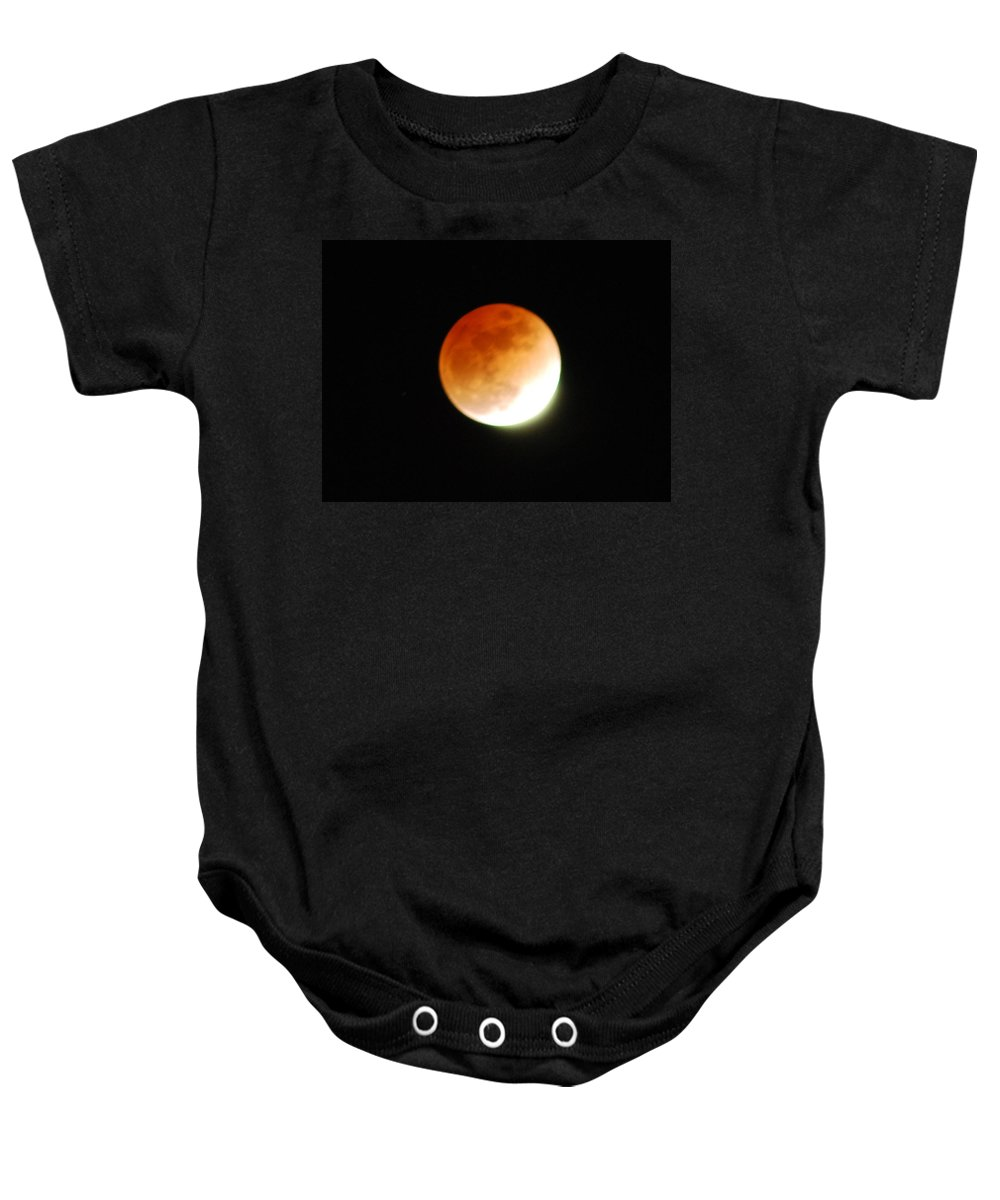 Lunar Baby Onesie featuring the photograph Lunar Eclipse by Michael Merry