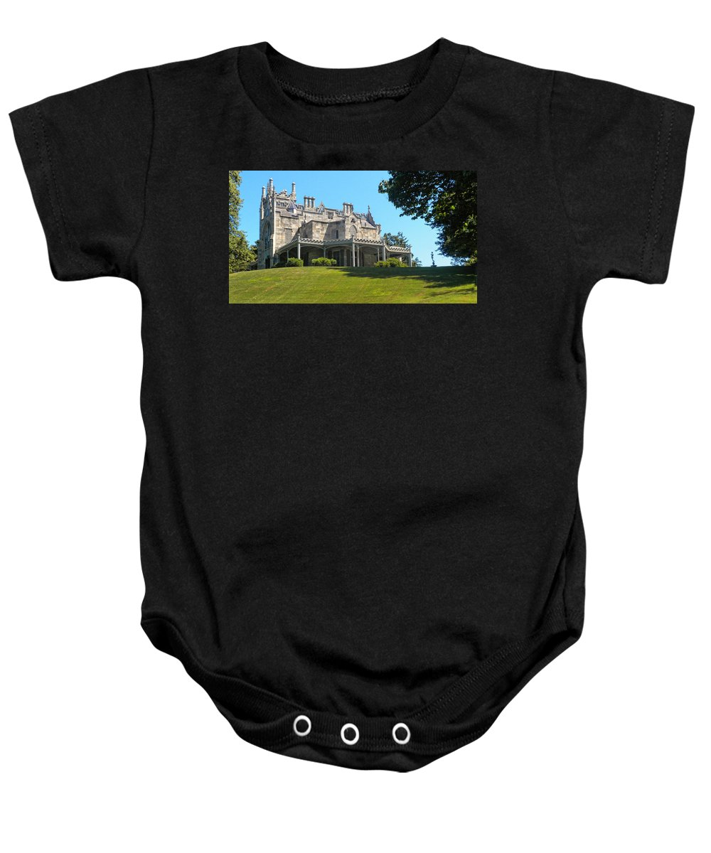 Lyndhurst Castle Baby Onesie featuring the photograph Lyndhurst Castle by Dave Mills