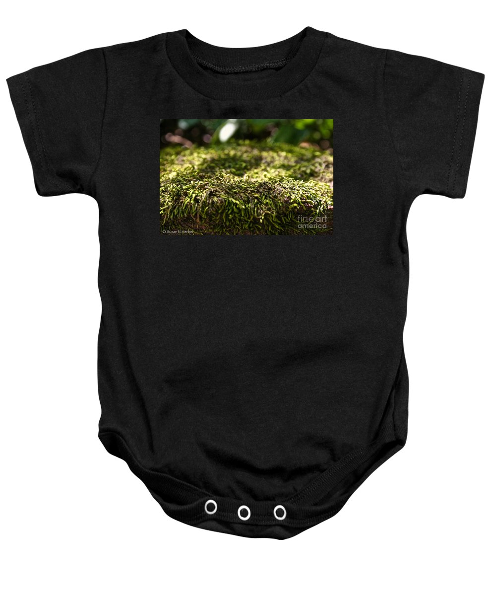 Outdoors Baby Onesie featuring the photograph Macro Moss by Susan Herber