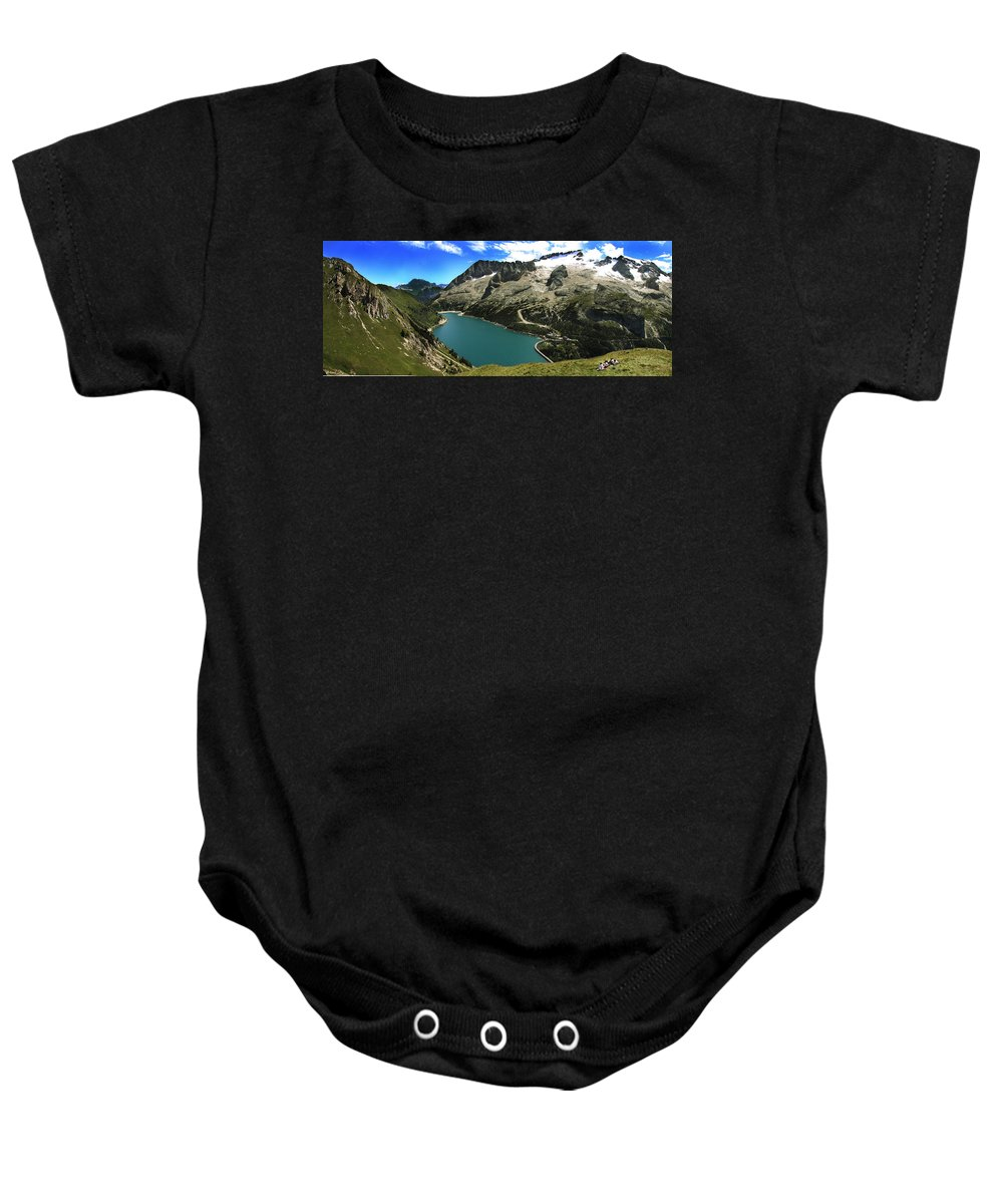 Landscape Baby Onesie featuring the photograph Magic Lake by Celiane Osimo