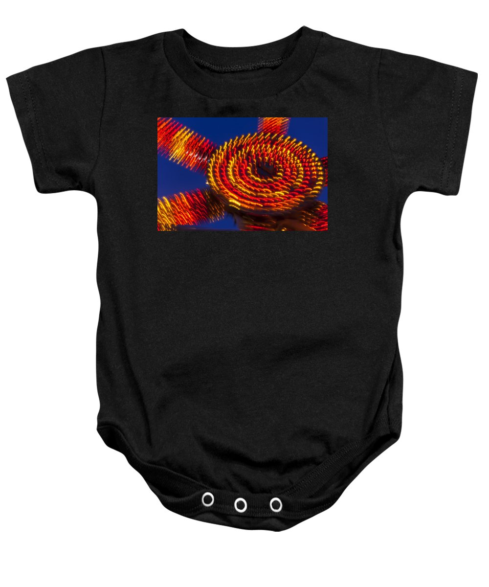 Carnival Baby Onesie featuring the photograph Magic Lights by Garry Gay