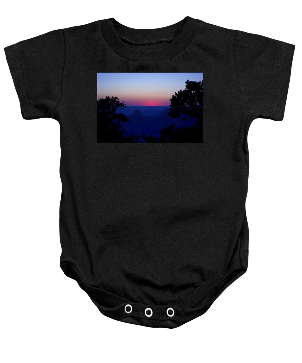 Evening Baby Onesie featuring the photograph Magical Evening - Grand Canyon by Ellen Heaverlo