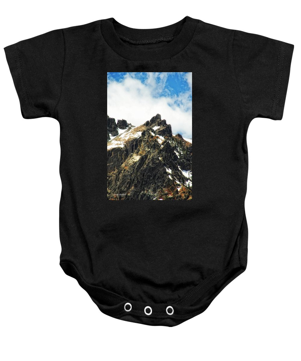 Mountain Baby Onesie featuring the photograph Majesty by Donna Blackhall