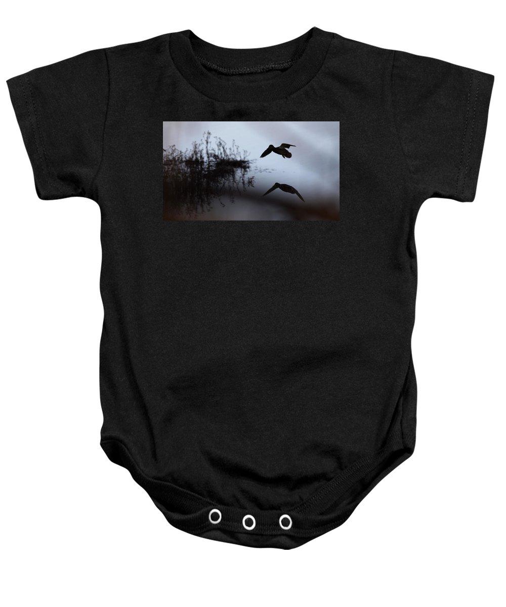 Tombigbee Baby Onesie featuring the photograph Mallard - Duck - Near The Tombigbee by Travis Truelove