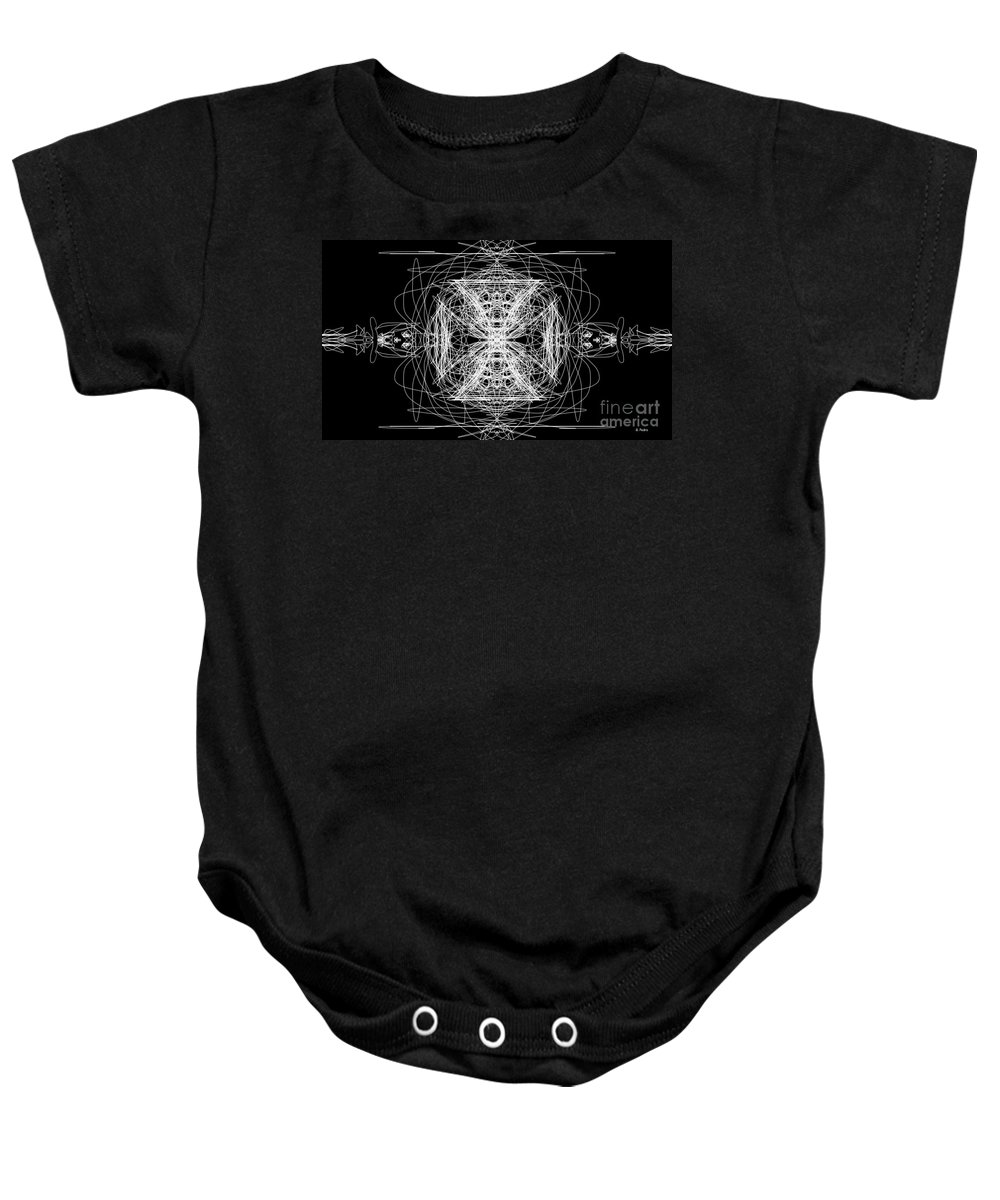 Maltese Cross Baby Onesie featuring the digital art Maltese Cross by George Pedro