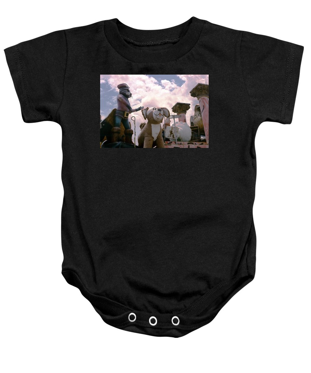 Louisiana Baby Onesie featuring the photograph Mardi Gras Float by Doug Duffey