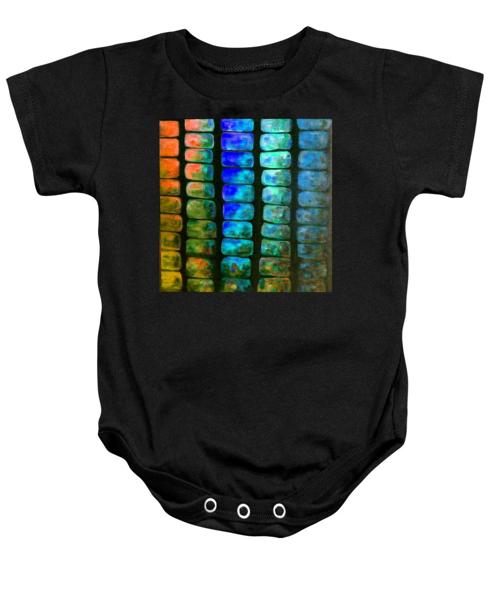 Australian Baby Onesie featuring the painting Mexican Jungle 4 by Giro Tavitian
