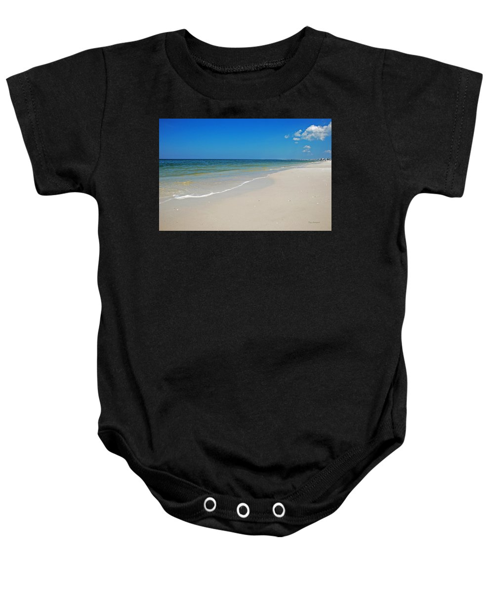 Beach Baby Onesie featuring the photograph Mexico Beach by Kay Lovingood